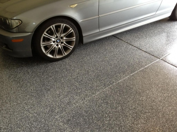 Epoxy Flake Flooring In Michigan Great Lakes Garage