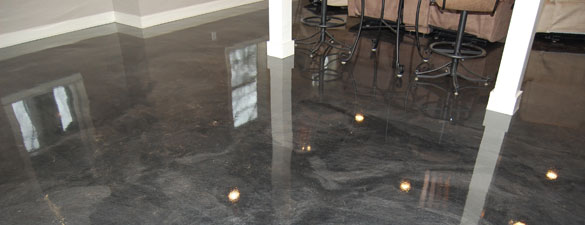 Metallic Epoxy Floor Installation Metro Detroit Great