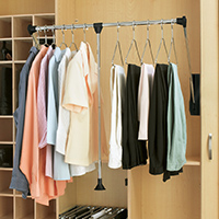 Custom Closets and Storage Solutions - Detroit MI | Great Lakes Garage - acc-pull-down-clothes-bar