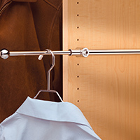 Custom Closets and Storage Solutions - Detroit MI | Great Lakes Garage - acc-slide-out-clothes-bar