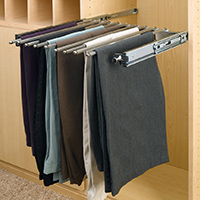 Custom Closets and Storage Solutions - Detroit MI | Great Lakes Garage - acc-sliding-pant-hanger