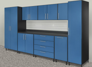 Storage Closet Contractor Franklin MI | Great Lakes Garage - Blue_Cabinets