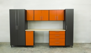 Storage Closet Contractor Troy MI | Great Lakes Garage - blackandorangecabinets