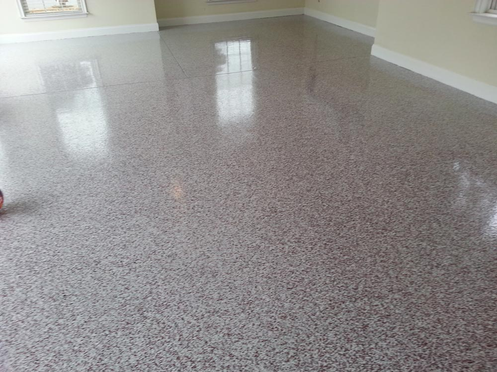 Epoxy Flake Floor Installation - Detroit, MI | Great Lakes Garage - JamesColeman2