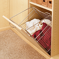 Custom Closets and Storage Solutions - Detroit MI | Great Lakes Garage - acc-hamper-opening