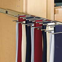 Custom Closets and Storage Solutions - Detroit MI | Great Lakes Garage - acc-sliding-tie-rack